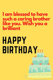 short birthday wishes for brother