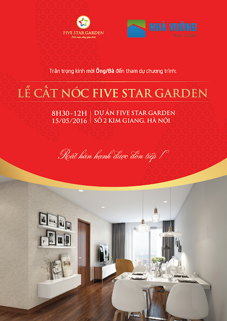 Thư mời sự kiện Five Star Kim Giang