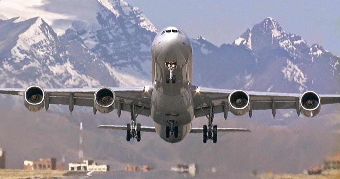 Hijos en el extranjero y avion