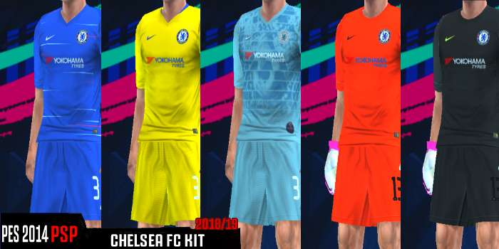 official photos 6dd30 a33ab Chelsea FC Kits 2018/2019 PES PSP (PPSSPP)