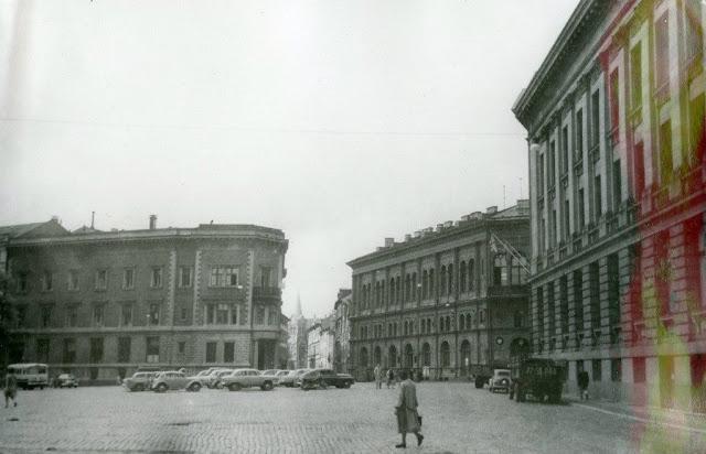 Вторая половина 1950-х годов. Рига. Площадь 17 Июня