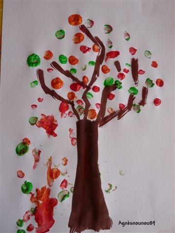 jeux d 39 enfants activit enfant faire un arbre avec ses doigts. Black Bedroom Furniture Sets. Home Design Ideas