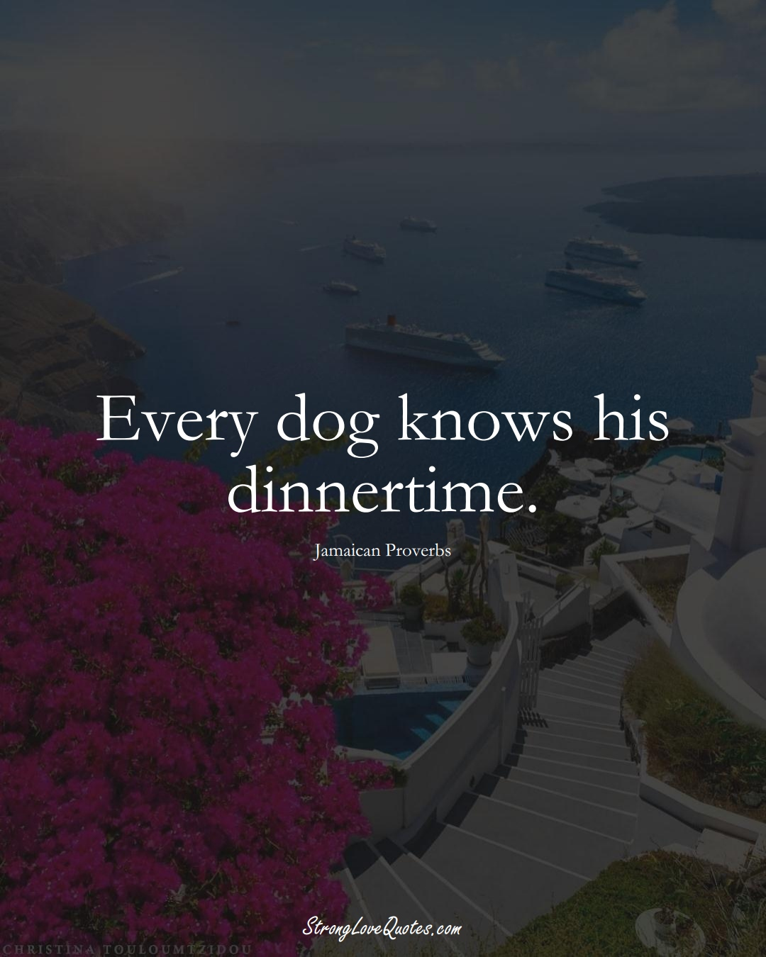 Every dog knows his dinnertime. (Jamaican Sayings);  #CaribbeanSayings