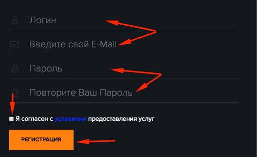 Регистрация в BitForever 2