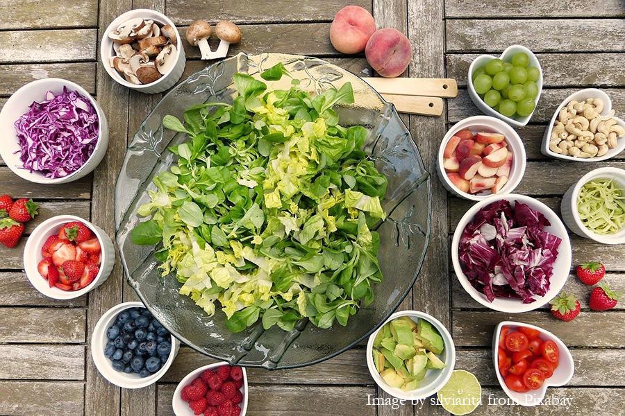 salad and fruit vegan recipes