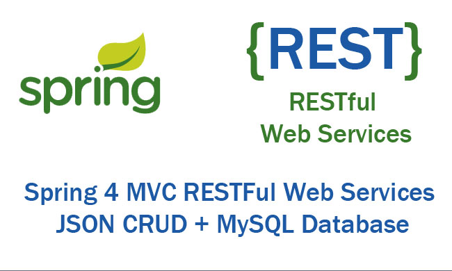 Spring Restful Web Services example JSON CRUD using Maven within the