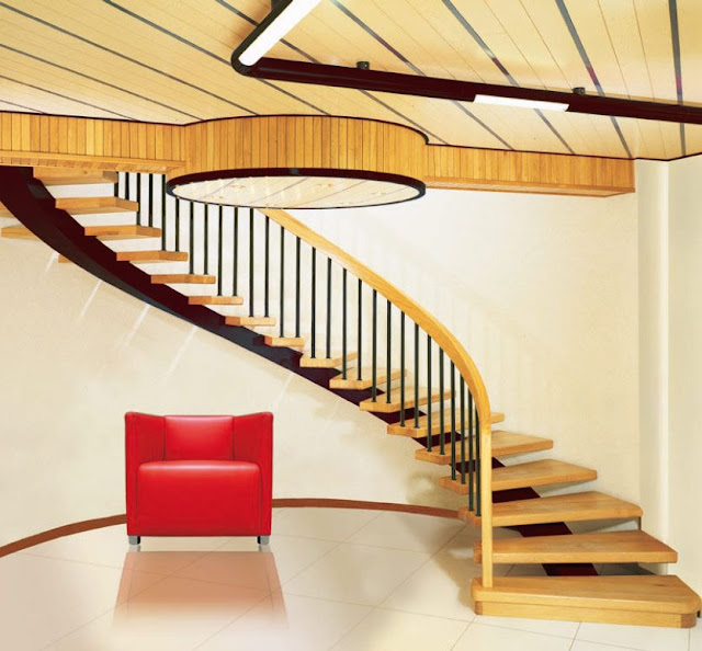 Stylish wooden staircase designs