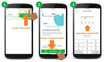 cara aktivasi OVO di aplikasi grab, cara aktivasi OVO, cara menggunakan OVO, cara mengaktifkan OVO