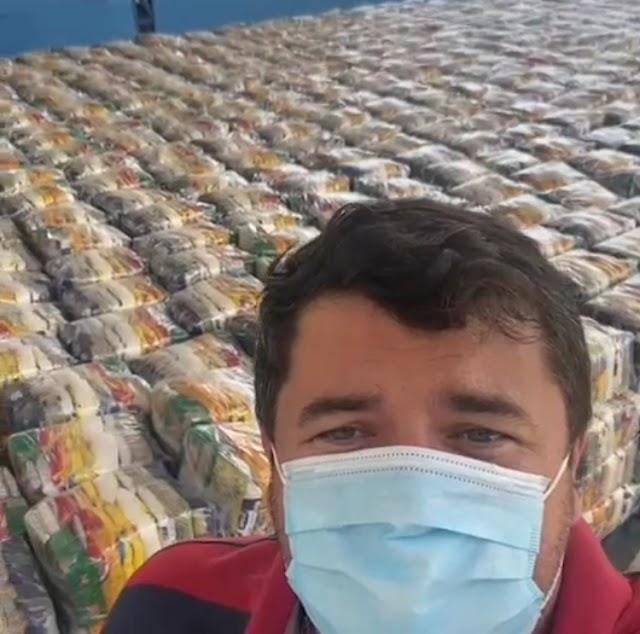 Kit de alimentação começa a ser entregue para famílias carentes de Entre Rios