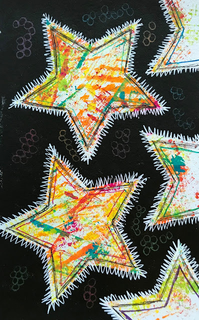 star shapes on black background #jumpintojanuary #tangleu