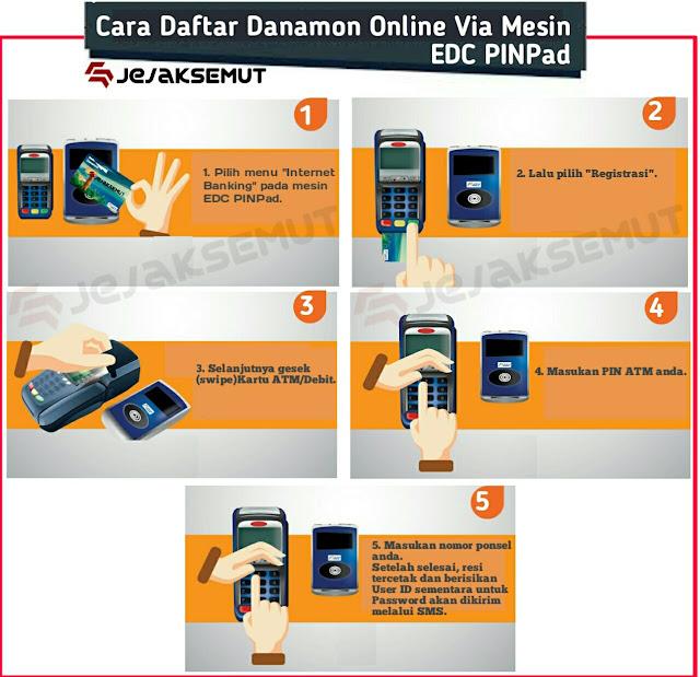cara daftar danamon online banking EDC PINpad