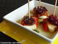 Mozzarella abrigada con pimientos asados - cocinando-con-neus