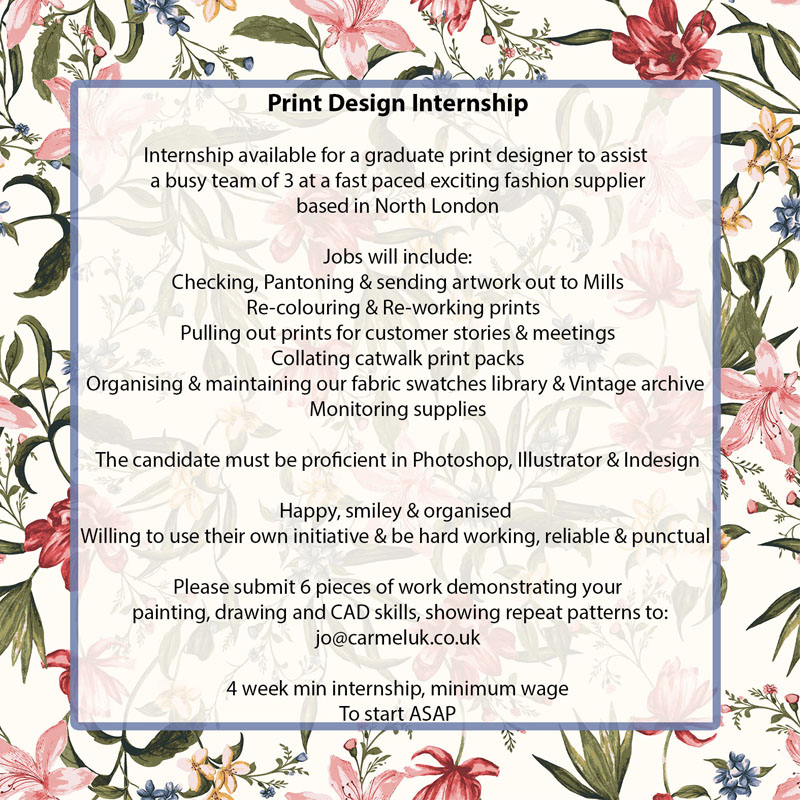 Print Pattern Designer jobs available on allshop-eqe0tr01.cf Apply to Designer, Artist, Fabricator and more! Skip to Job Postings, Search Close. Find The Designer Print, Pattern and Graphics must have the artistic and technical skills to assist with the development of prints and patterns.