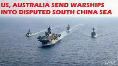 us, australia send warships into disputed south china sea