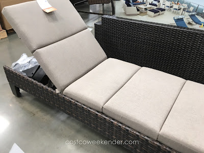 Agio international santa ana woven chaise lounger costco for Ava chaise lounge costco