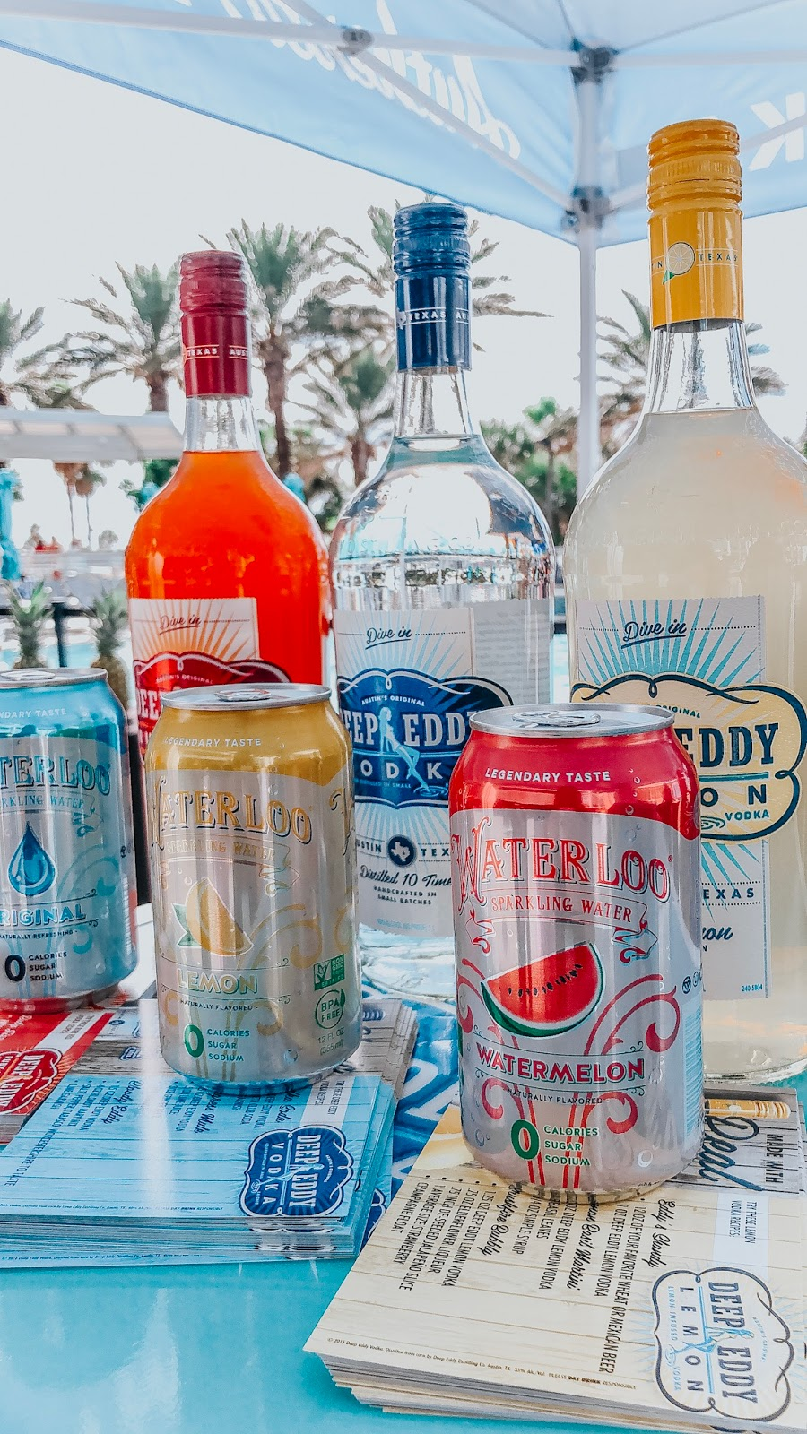 Deep Eddy's Vodka at Clearwater Beach's Uncorked food and wine festival located at the Wyndham Grand VIP Spirts Lounge