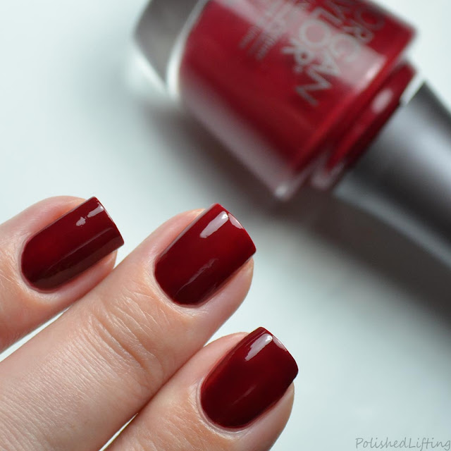 deep red creme nail polish swatch