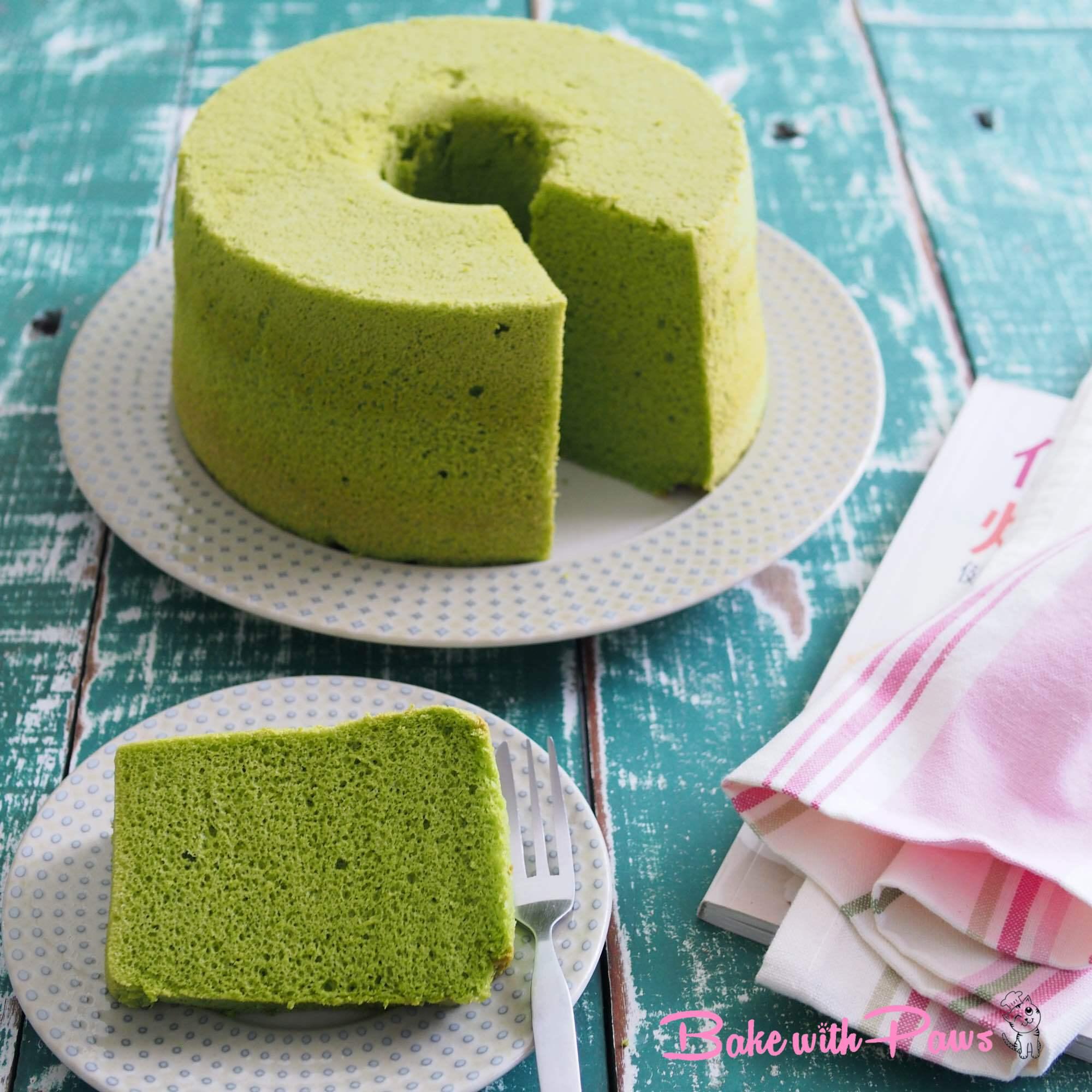 Pandan Chiffon Cake Bake With Paws