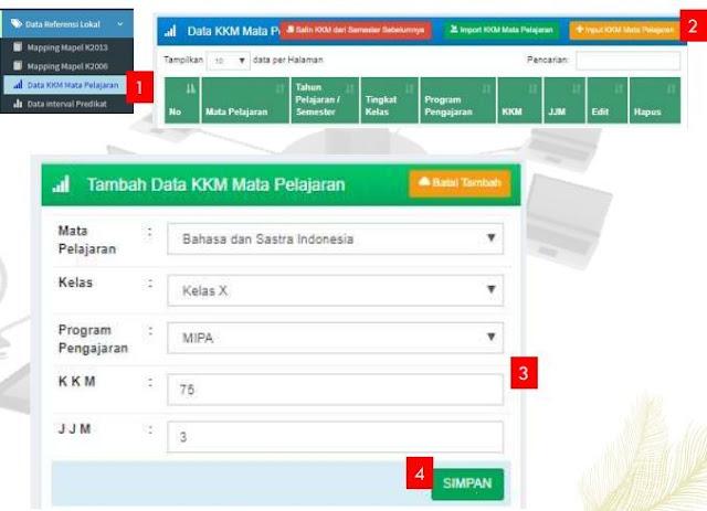 Gerbang kurikulum e-rapor SMA Semester Genap 2021-2022