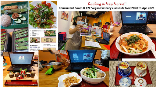 Cooking in New norms!  Concurrent Zoom & F2F Culinary classes