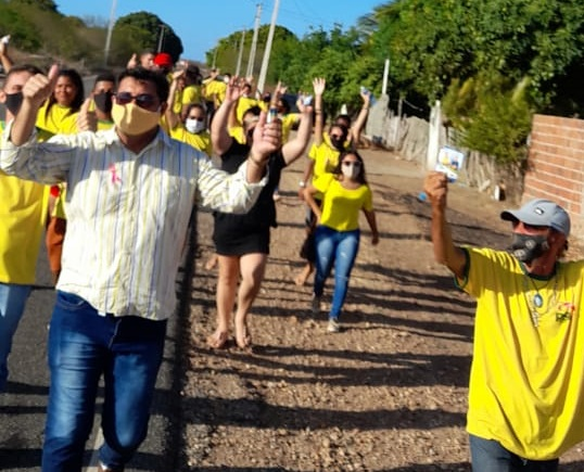 POLÍTICA: O candidato a prefeito Rômulo Paulista e seu Vice Bira em conjunto com seus vereadores (as), estão levando suas propostas à população Macauense.