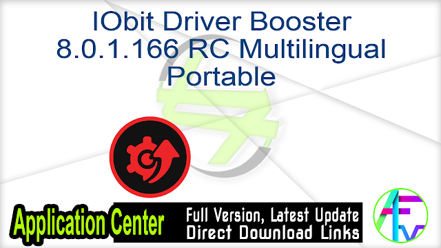 IObit Driver Booster 8.0.1.166 RC Multilingual Portable