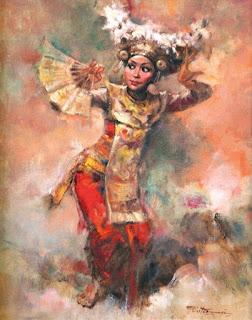 lukisan penari bali