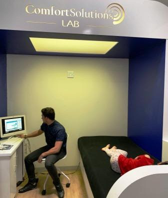 Bed King Comfort Solutions Lab - reading being done