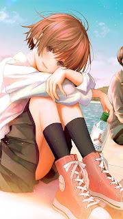 Anime Couple School Mobile HD Wallpaper