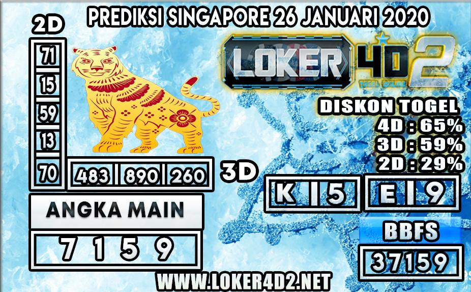 PREDIKSI TOGEL SINGAPORE LOKER4D2 26 JANUARI 2020