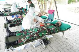 Antisipasi Dampak COVID-19, Korem Kendari dan PMI Gelar Donor Darah