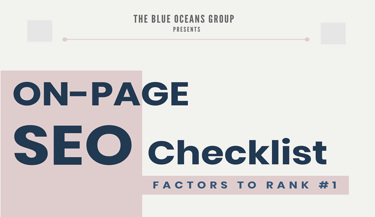 On-Page SEO Checklist: 28 Factors to Rank #1 [2020] # Infographic