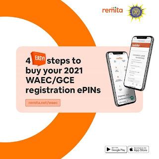 4 Easy Steps to Buy 2021 WAEC GCE e-PINs via Remita