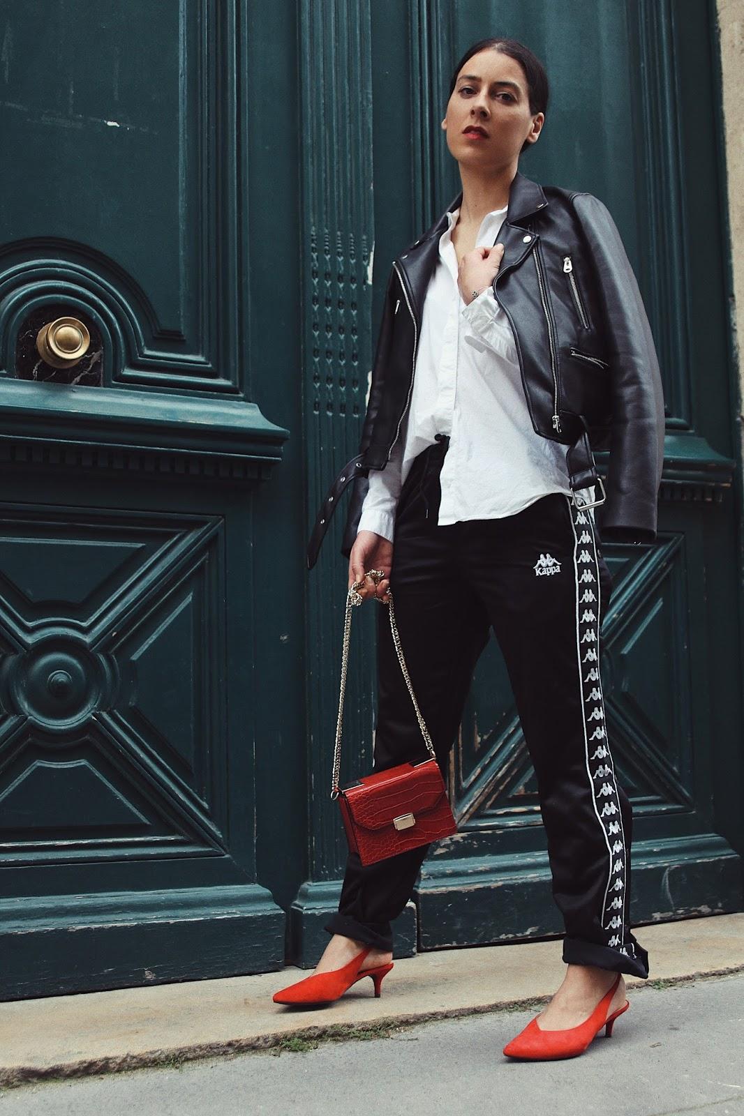 blog de mode avec look jogging kappa perfecto tendance printemps