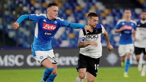 Hasil Liga Italia: Ancelotti Dikartu Merah, Napoli Vs Atalanta Berakhir 2-2