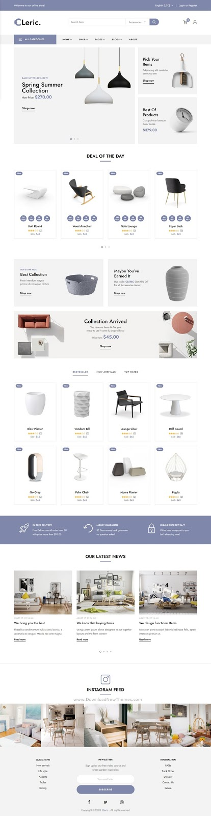Furniture Shop HTML Template