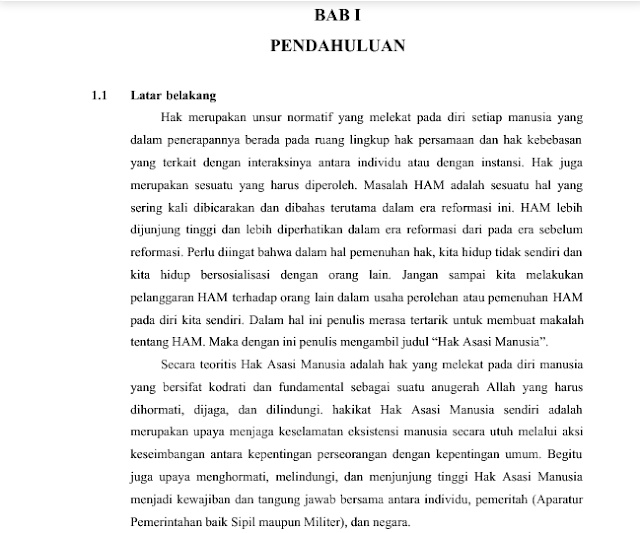contoh penulisan latar belakang makalah