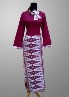 Model Baju Batik Kombinasi untuk wisuda