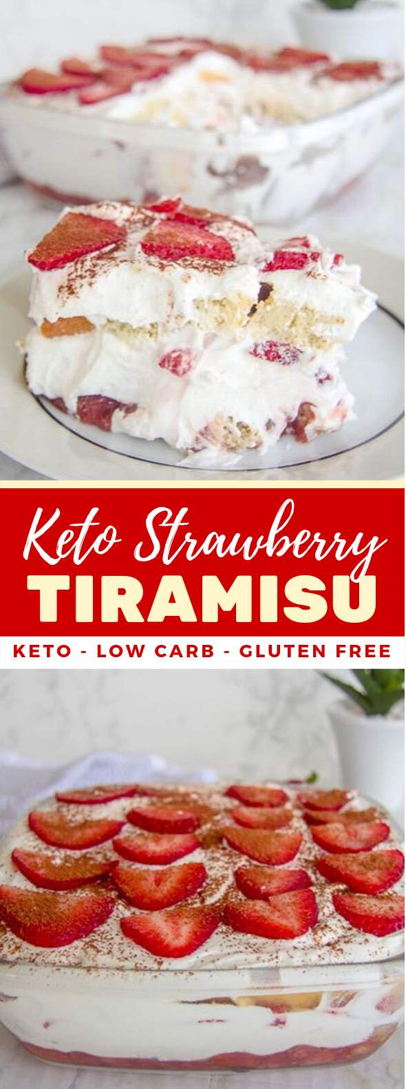 Keto Strawberry Tiramisu #lowcarb #healthydessert