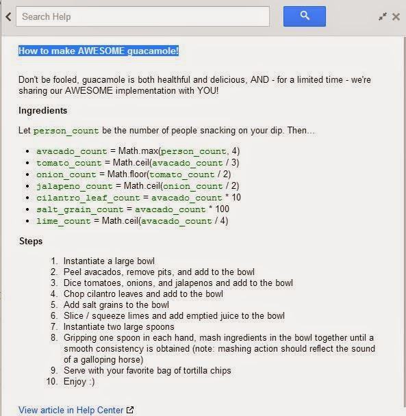 April 1st surprise for the Google Adsense publishers, visitors from Planets and Moons and a free Guacamole recipe, courtesy Google