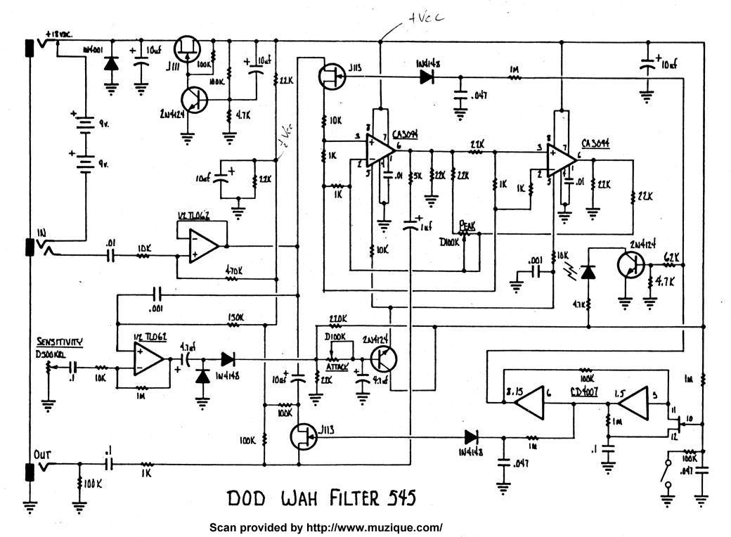 DOD Wah Filter - DOD 545