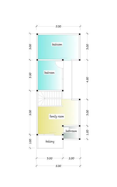 2nd floor plan of beautiful house plan 05