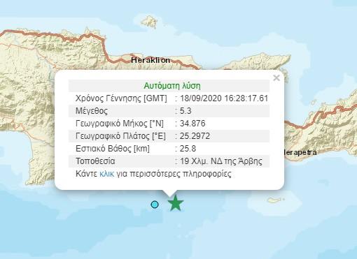 Σεισμός εντάσεως 5,3 Ρίχτερ στην Κρήτη – Τι εκτιμούν σεισμολόγοι
