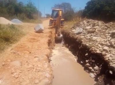 Piatã/BA: Prefeitura inicia obra de construção da ponte sobre o rio do povoado de Salitre de Inúbia