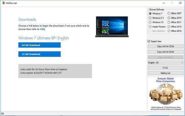 Cara download File ISO Windows 7,8, dan 10 langsung dari server Microsoft