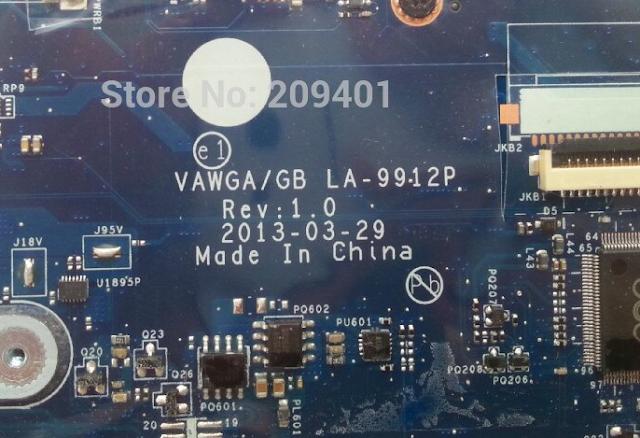 LA-9912P VAWGA,GB Rev 1.0 LENOVO G405, G505 Laptop Bios