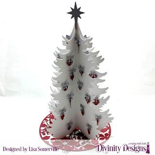 Christmas Tree Table Top Home Decor, Christmas Tree Skirt, Merry Mosaics, Christmas Door Greenery
