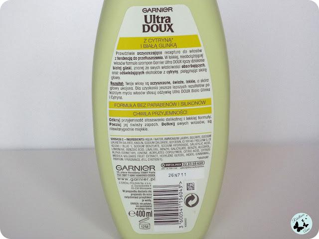 Moja recenzja - szampon oczyszczający Ultra Doux od Garnier