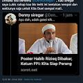 Denny Siregar Ditantang Duel Sampai Mati Usai Tanggapi Pernyataan Ketua Umum FPI