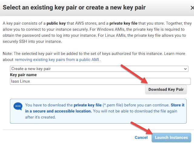 AWS EC2 Download Key Paird
